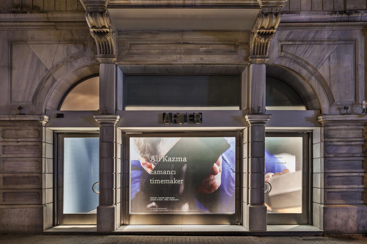 "Exterior view ofAli Kazma, ""timemaker,""2015.Photo by Murat Germen, courtesy ARTER."