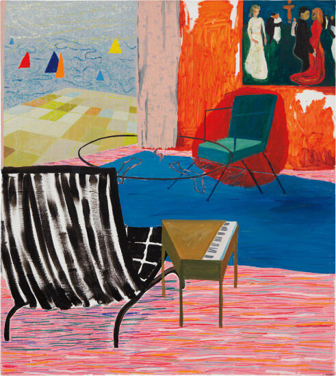 Shara Hughes Sailing, 2006. Sold at Phillips in November 2017 for a new artist record at auction.