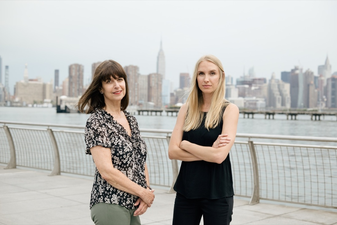 Rikers art therapists Lesley Achitoff and Katie Hinson. Photo by Daniel Dorsa for Artsy.