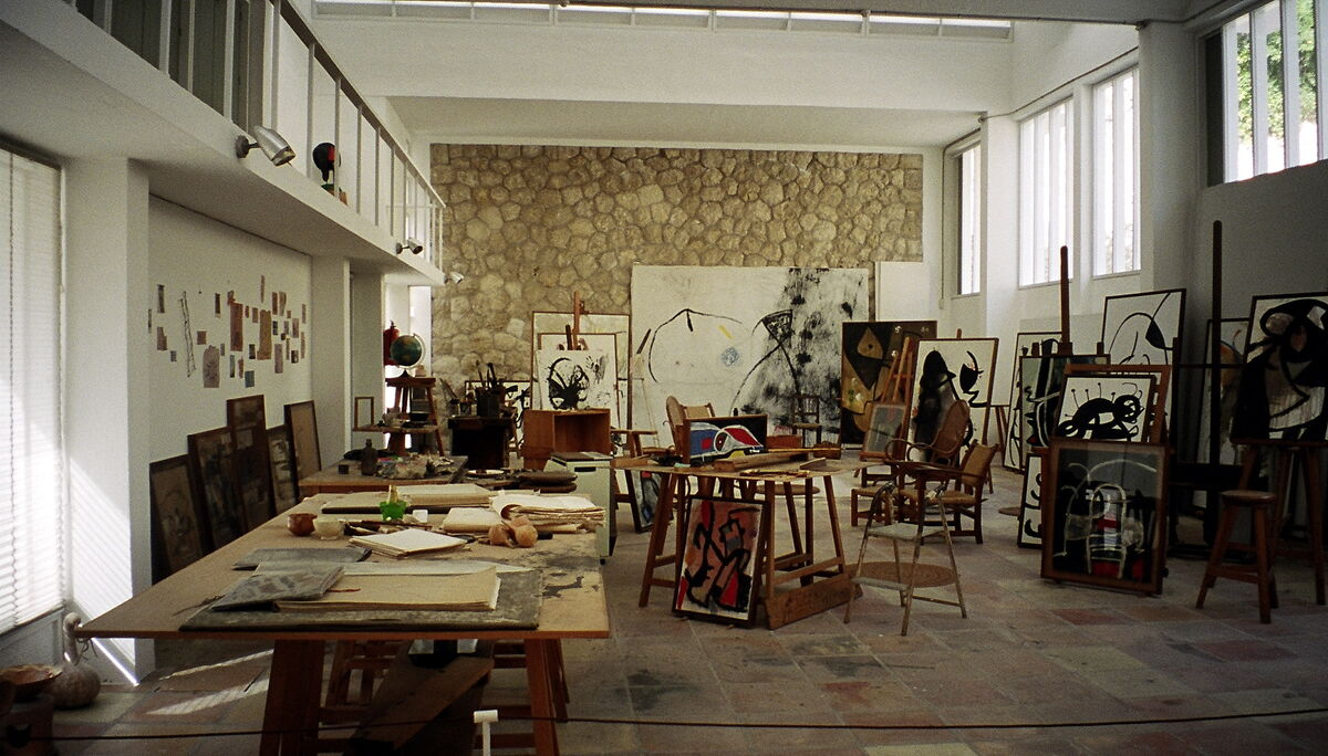 Joan Miró's studio. Photo by Alexandra Moss, via Flickr.