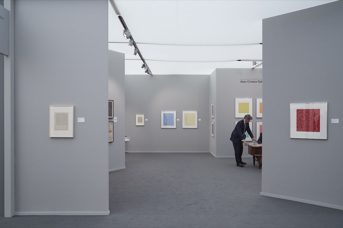 Installation view of Alan Cristea Gallery's booth at Frieze Masters, 2016. Photo by Benjamin Westoby for Artsy.