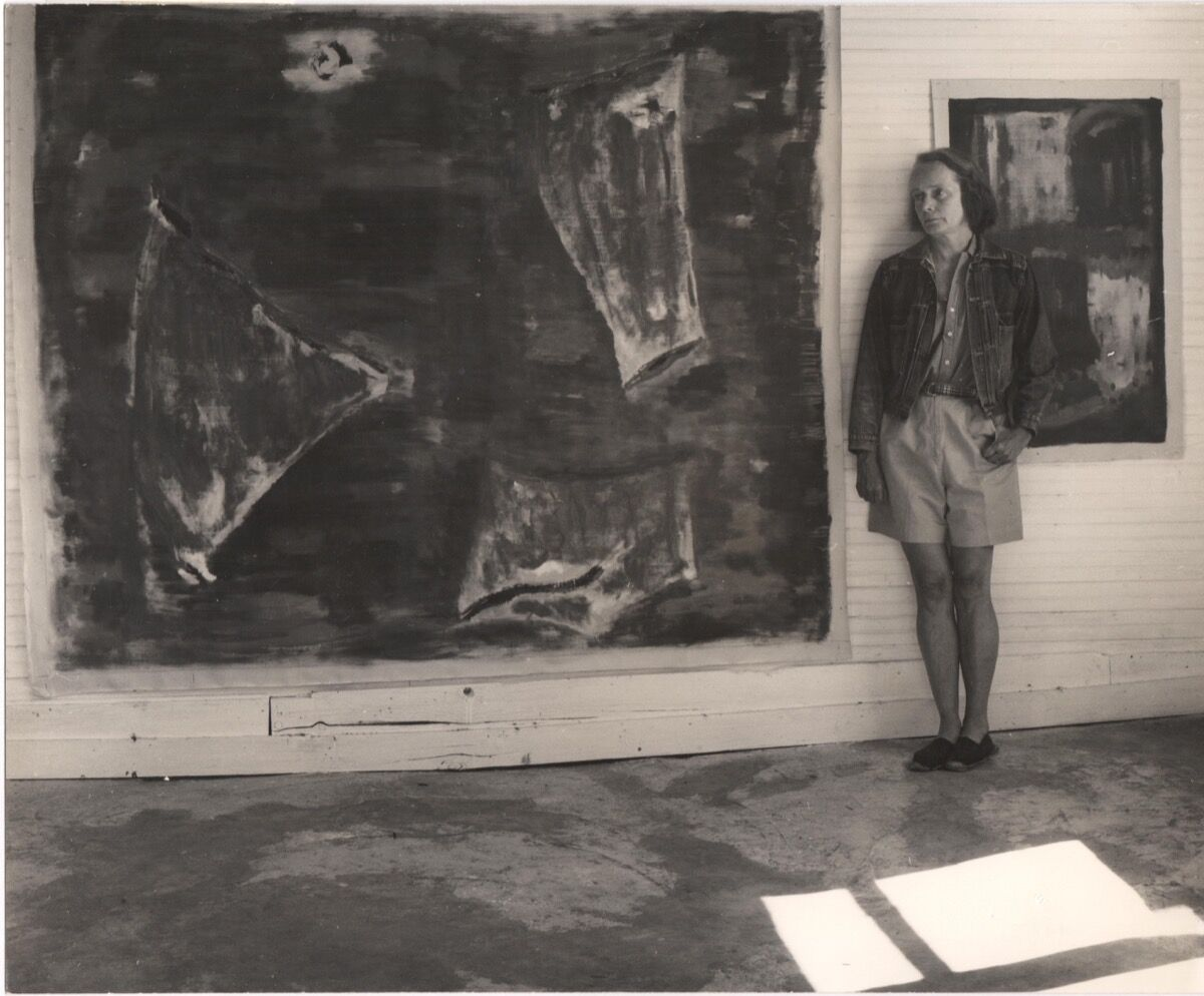 Betty Parsons at her studio, 1969. Courtesy of Alexander Gray Associates.