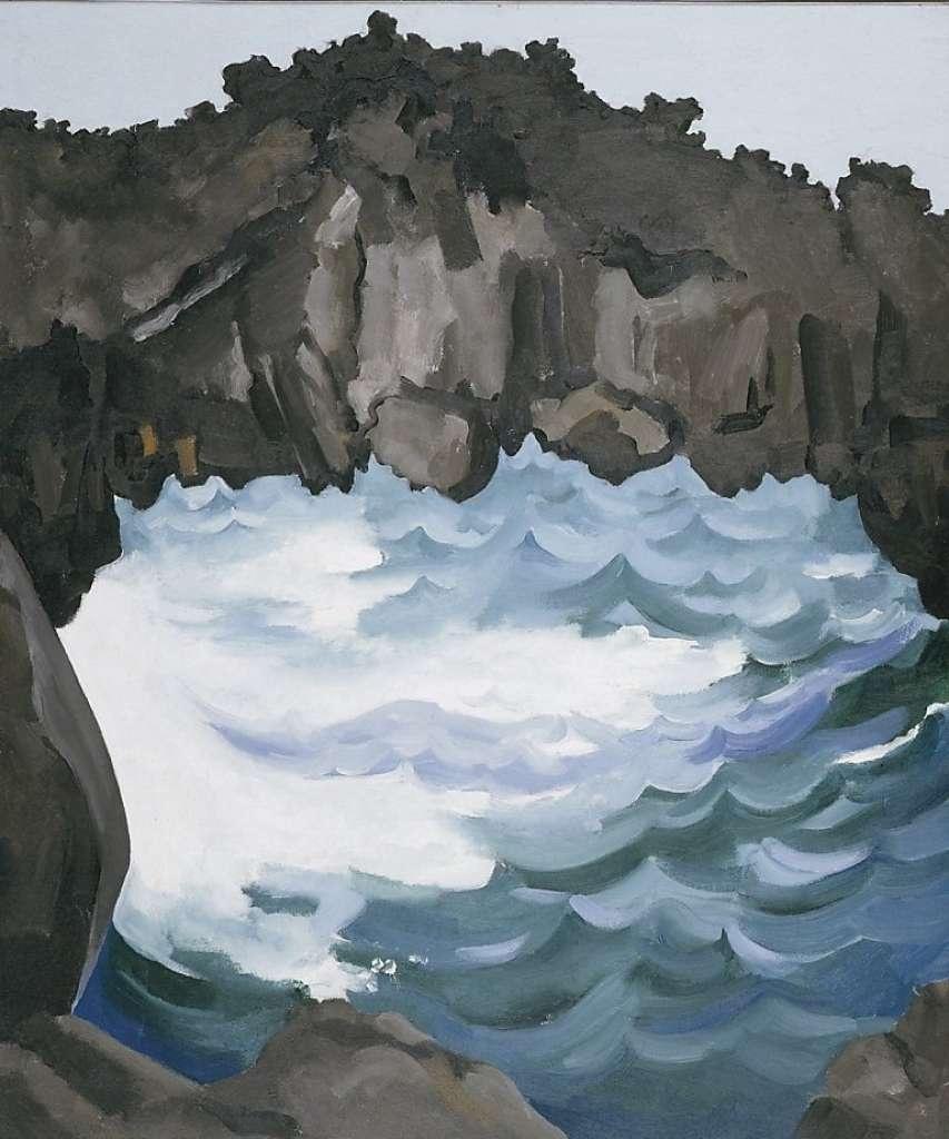 Georgia O'keeffe, Black Lava Bridge, Hana Coast, No. 1, 1939. Honolulu Museum of Art.
