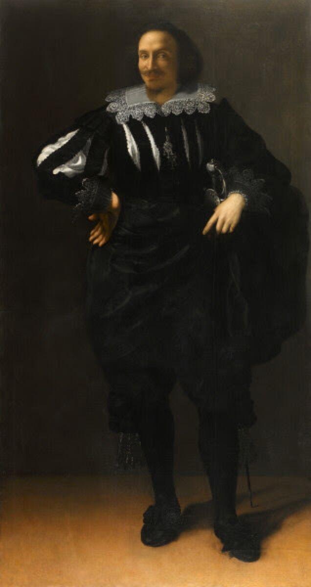 Artemisia Gentileschi, Portrait of a Gentleman (Antoine De Ville), 1630-35.