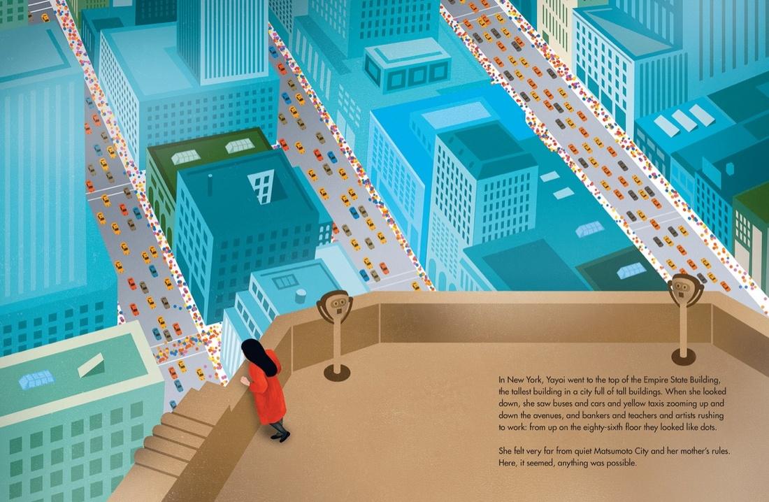 Interior, Yayoi Kusama: From Here to Infinity. Courtesy of the Museum of Modern Art, New York.