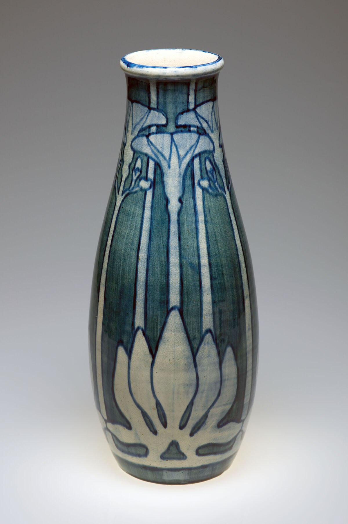 Marie de Hoa LeBlanc, Artist; Joseph Meyer, Potter, Portulaca Vase. Collection of the Newcomb Art Museum of Tulane University.