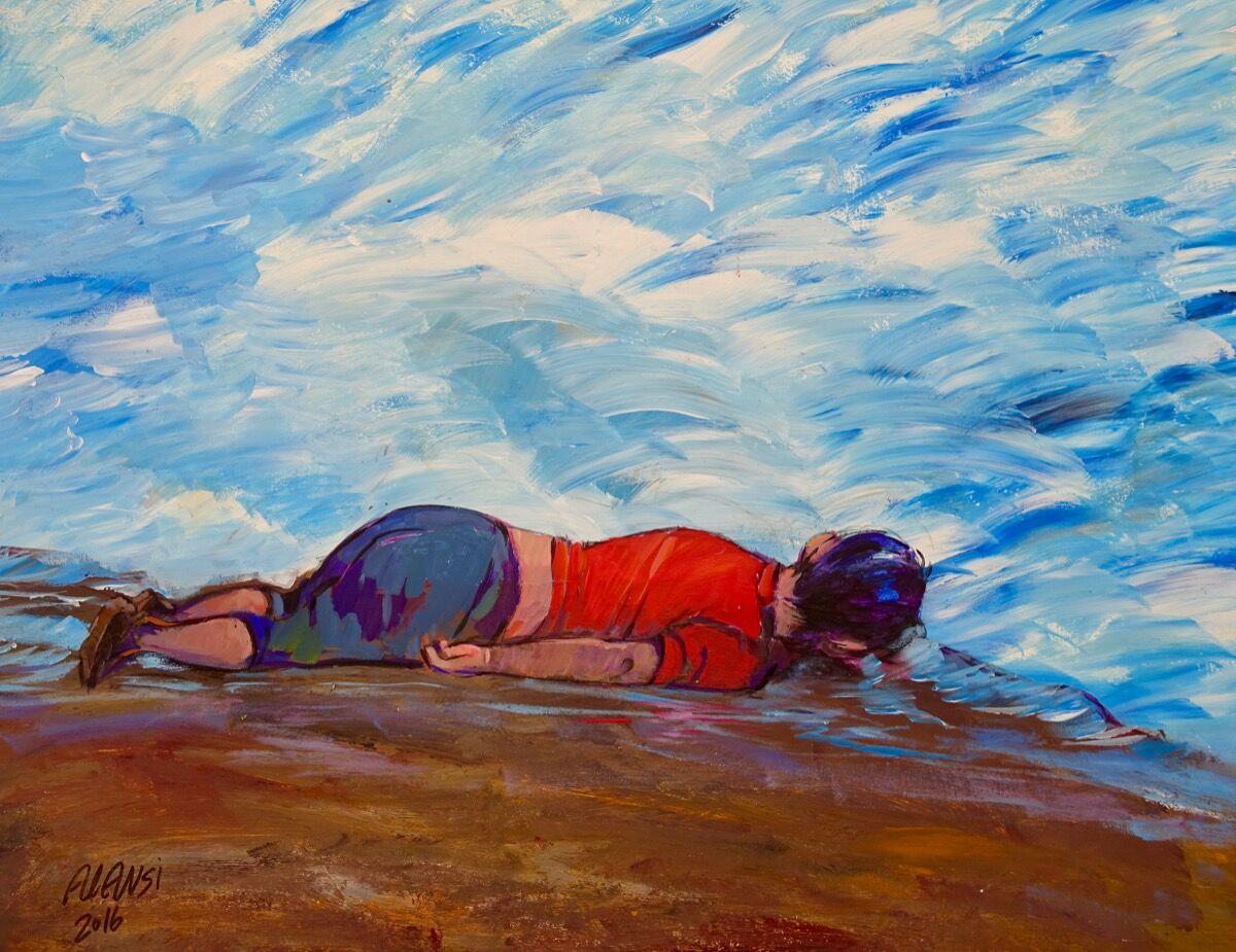 Muhammad Ansi, Untitled (Alan Kurdi), 2016. Courtesy of John Jay College of Criminal Justice.