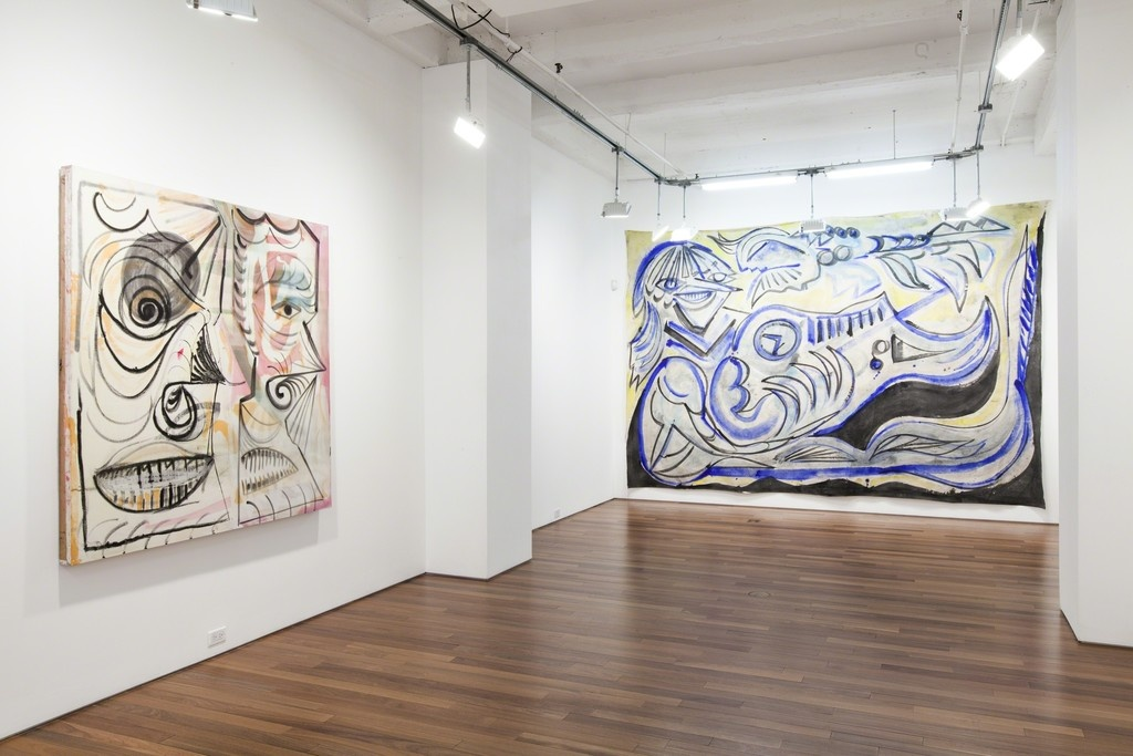 "Installation view, Alex Crocker, ""Wyrd,"" at Ana Cristea Gallery, New York. Courtesy Ana Cristea Gallery."