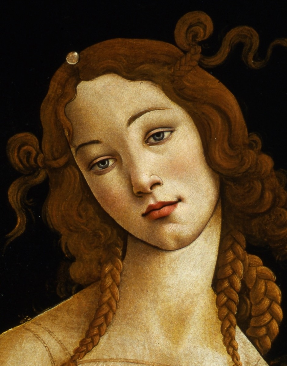 Detail of Sandro Botticelli, Venus, ca. 1484-1490. Galleria Sabauda, Turin. Image courtesy of the Muscarelle Museum of Art & Museum of Fine Arts Boston.