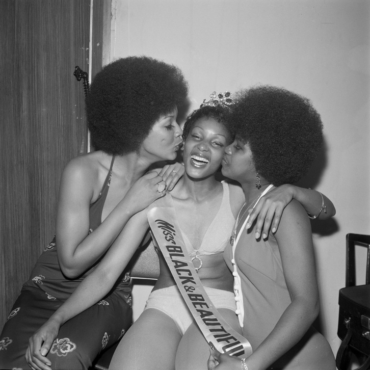 Raphael Albert,Miss Black & Beautiful Sybil McLean with fellow contestants, 1972. © Raphael Albert/Autograph ABP.