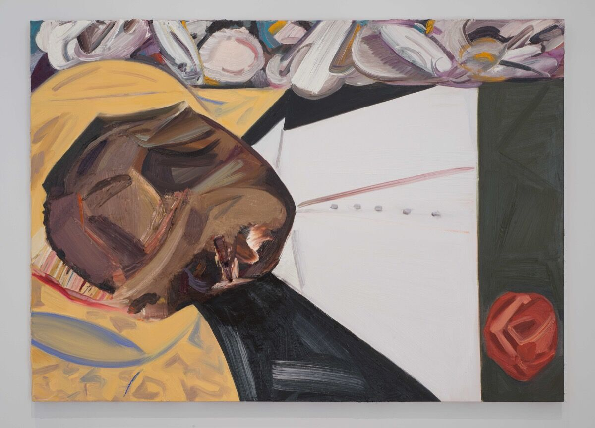 Dana Schutz, Open Casket, 2016. Collection of the artist ; Petzel Gallery, New York and Contemporary Fine Arts, Berlin. Photograph by Bill Orcutt. Courtesy of the Whitney Museum of American Art.