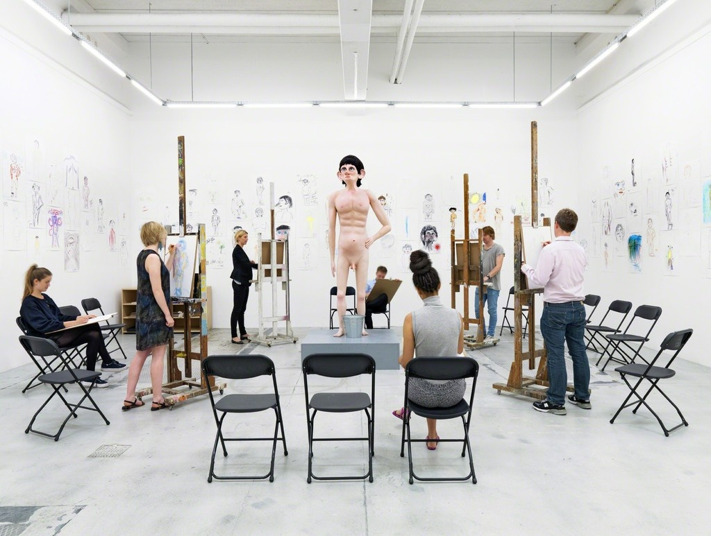 """Installation view of """"David Shrigley: Life Model"""" at Galerie Nicolai Wallner, 2014. Photo courtesy of the gallery."""