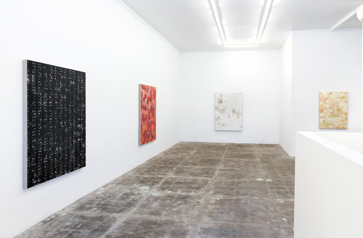 """Installation view of """"Robert Larson:Processing Commitment"""" at CES Gallery, Los Angeles.Courtesy CES Gallery and the artist"""
