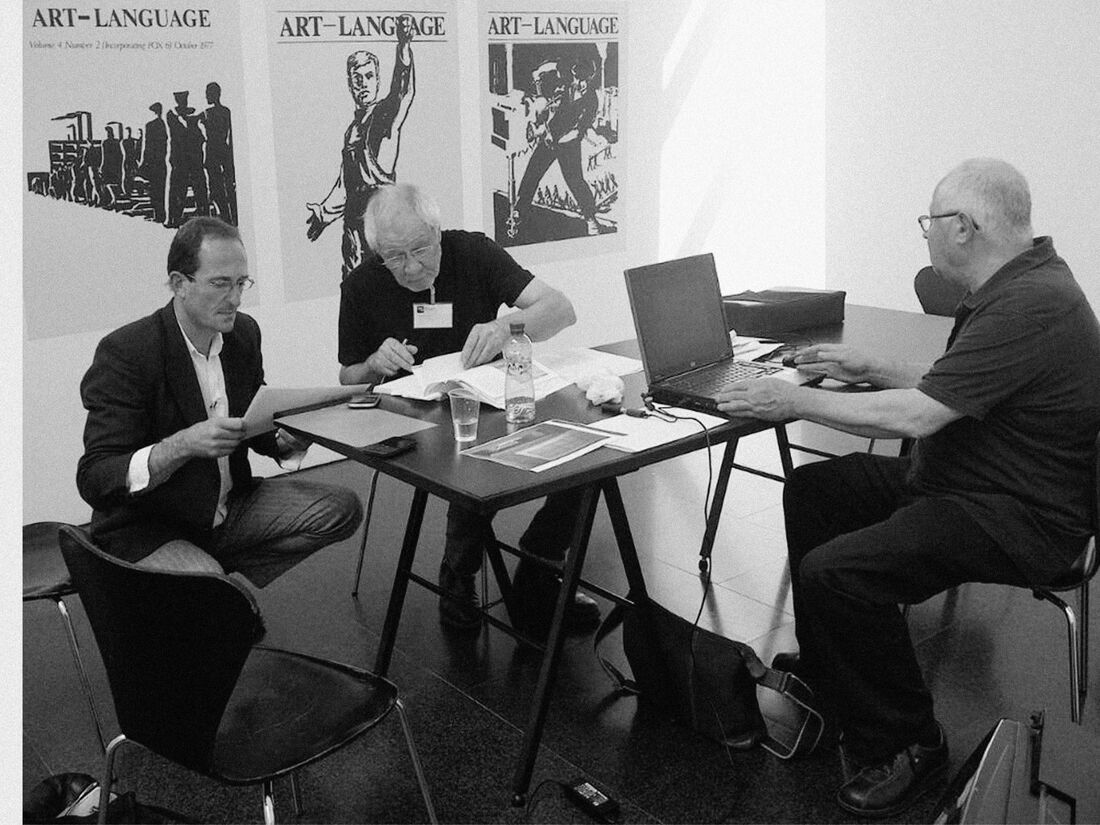 ART & LANGUAGE's Mel Ramsden and Michael Baldwin; Image courtesy of EXPO CHICAGO