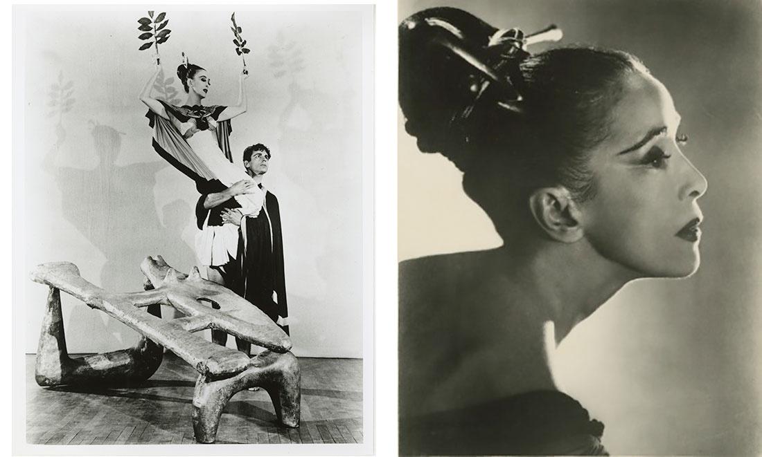 Left: Martha Graham and Bertram Ross in Night Journey. Photographer unknown; Right: Martha Graham in Night Journey. Photographer unknown.Images courtesy of the Martha Graham Dance Company.