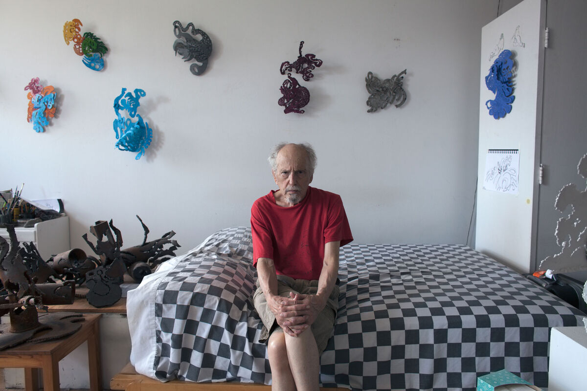 "For Jonathan Bauch, ""Westbeth was a savior. To afford a studio, I would have had to work full-time."" At 78, he has the freedom to work on his steel sculptures five days a week in a studio in the building that he shares with another resident. Photo by Frankie Alduino."