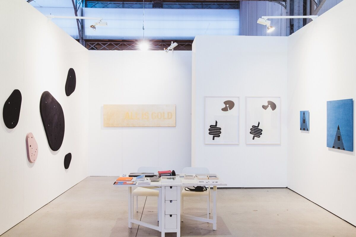 Installation view of Ani Molnár Gallery's booth at viennacontemporary, 2016. Photo by A. Murashkin, courtesy of the fair.