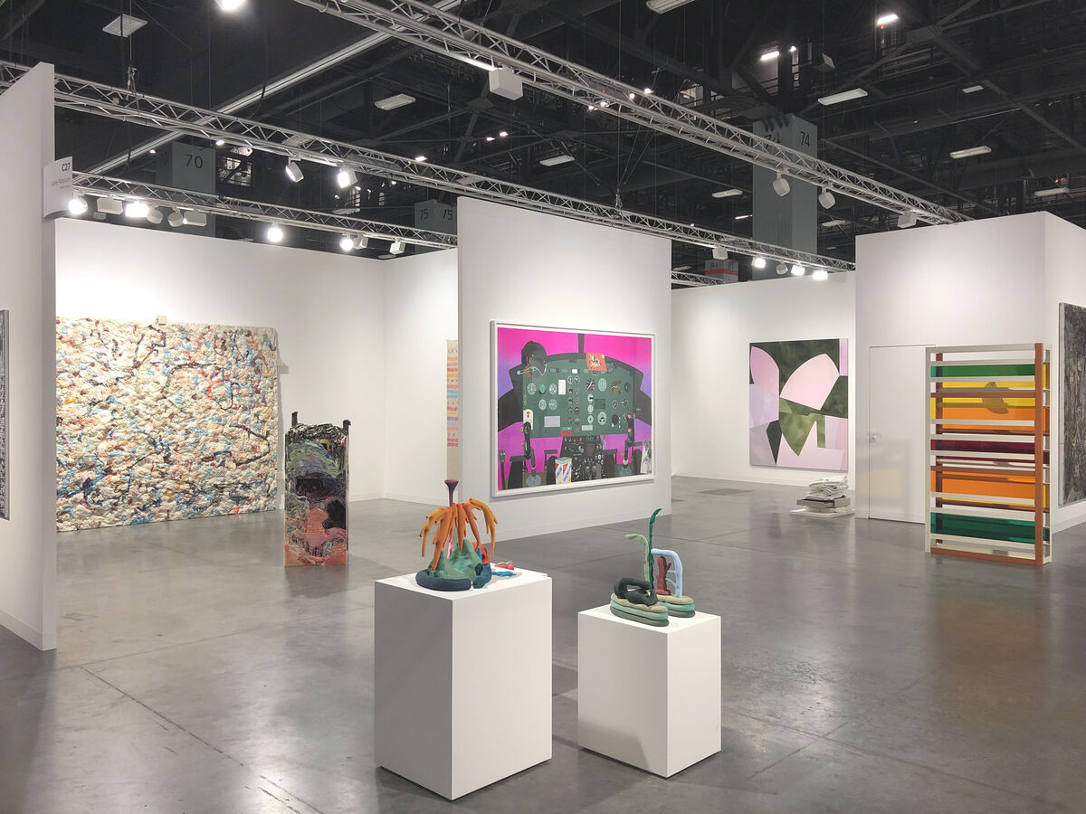 Installation view of Casey Kaplan's booth at Art Basel in Miami Beach, 2018. Courtesy of Casey Kaplan.