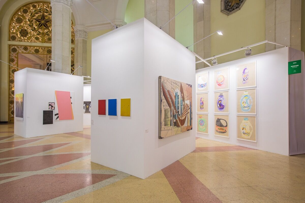 Installation view of Pilar Corrias Gallery's booth at Art021, 2018. Courtesy of Pilar Cor Gallery.