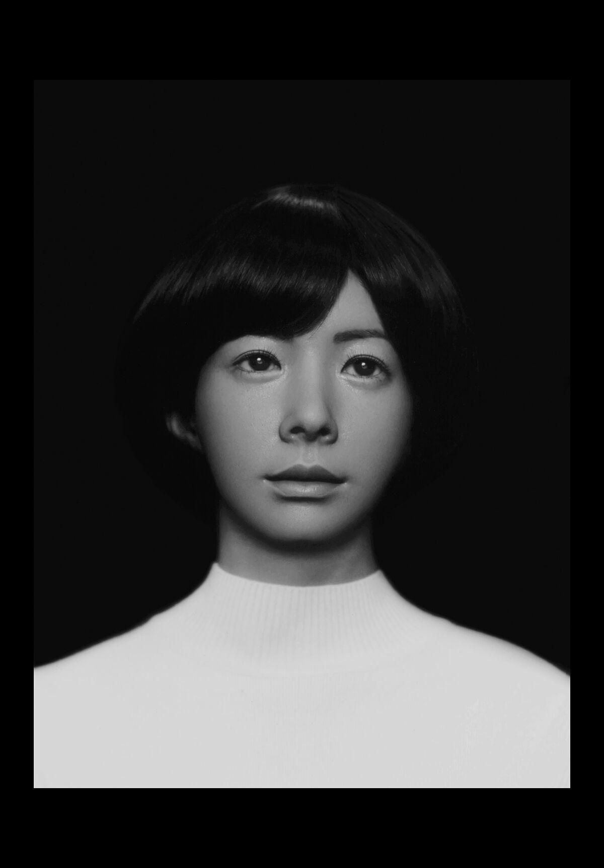 Photo by Wanda Tuerlinckx/Production science by Professor Erwin R. Boer. Android U, Hiroshi Ishiguro Laboratories, Osaka University, Japan 2017. Courtesy of the artist.