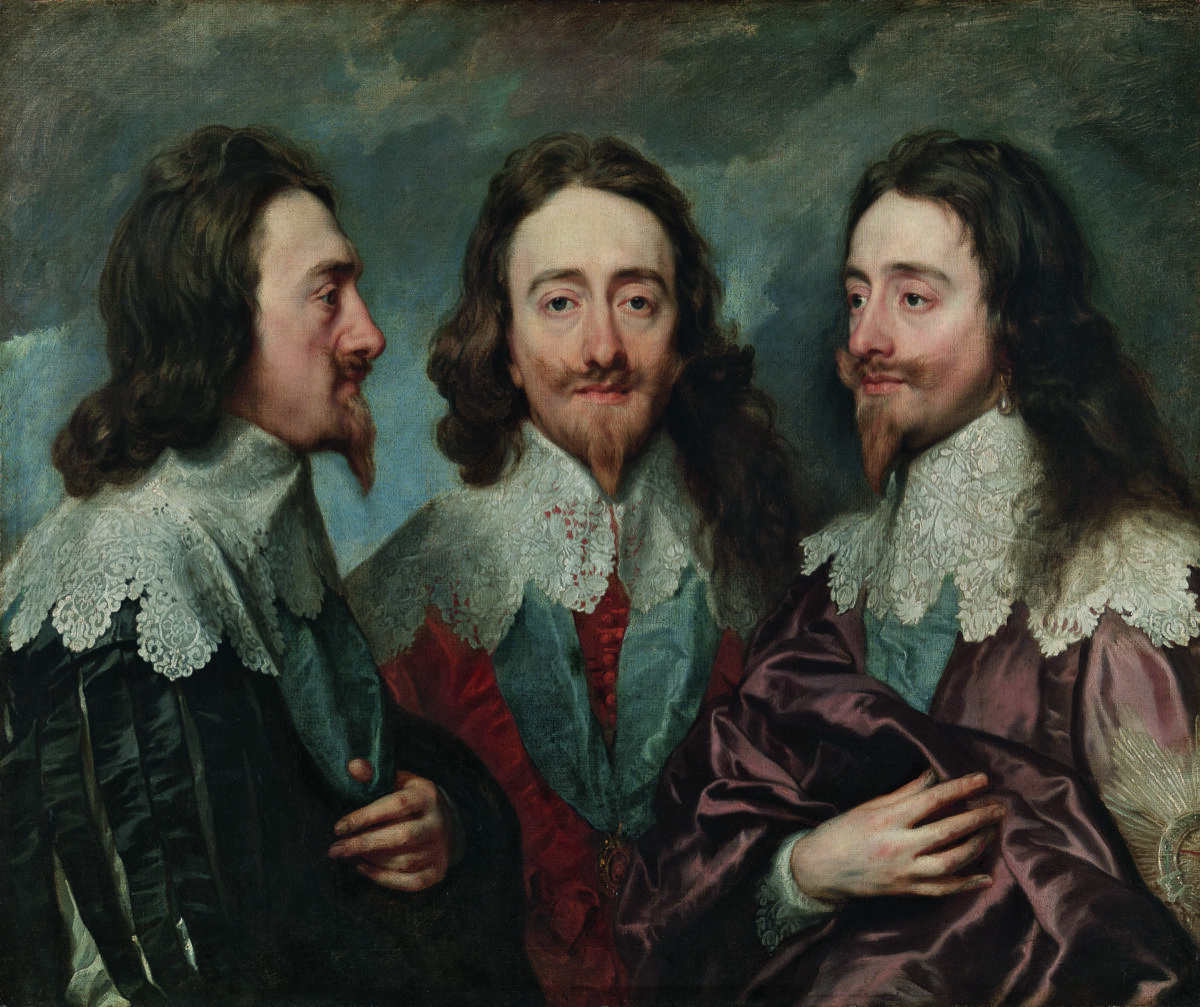 Anthony van Dyck, Charles I in Three Positions, 1635-36. Royal Collection Trust / © Her Majesty Queen Elizabeth II, 2018. Courtesy of the Royal Academy of Art.