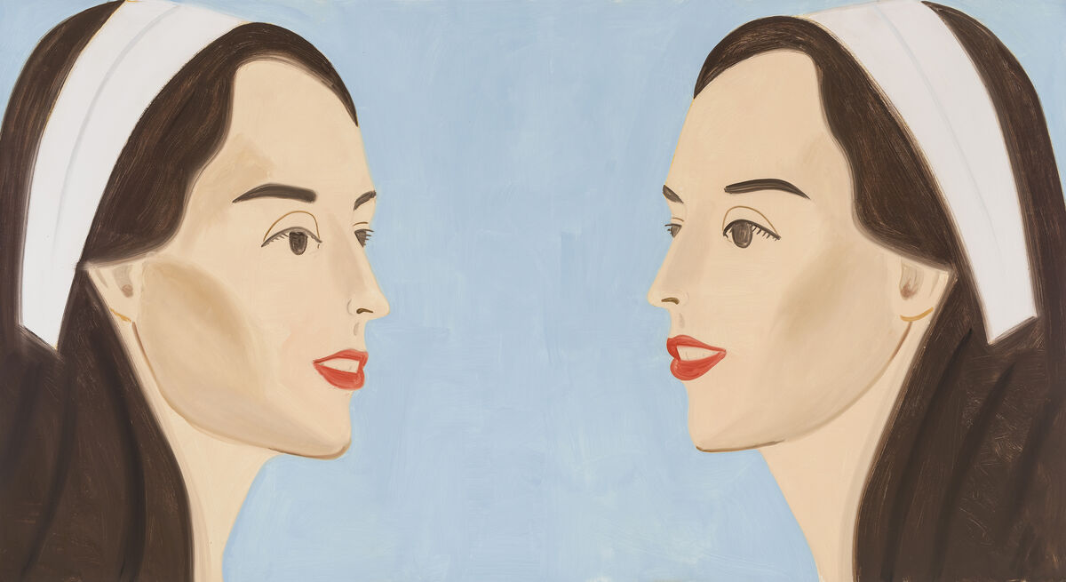 Alex Katz, Double White Band (Vivien), 2013. ©Alex Katz, courtesy of Timothy Taylor Gallery.