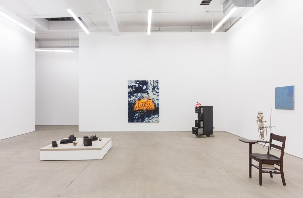 """Installation view of """"Keep Me Warm"""" at C L E A R I N G, Brooklyn, 2018. Courtesy of the artist and C L E A R I N G New York / Brussels."""
