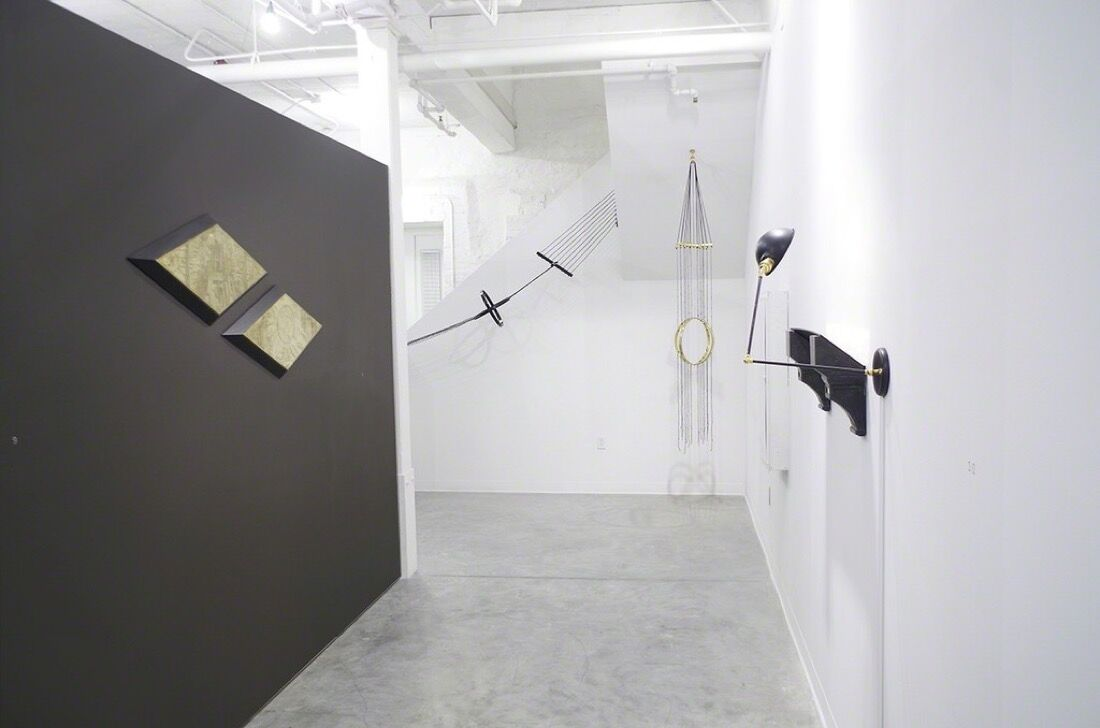 """Installation view of """"Steven Pestana: Geometer,"""" 2015. Courtesy of GRIN and the artist."""