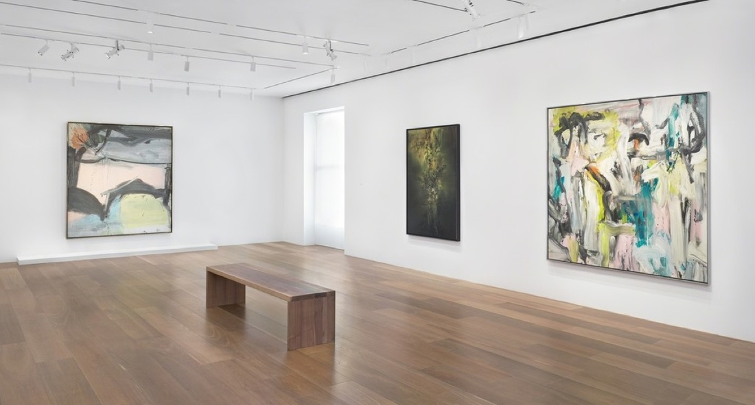 "Installation view of ""Willem de Kooning | Zao Wou-Ki."" Courtesy ofLévy Gorvy."