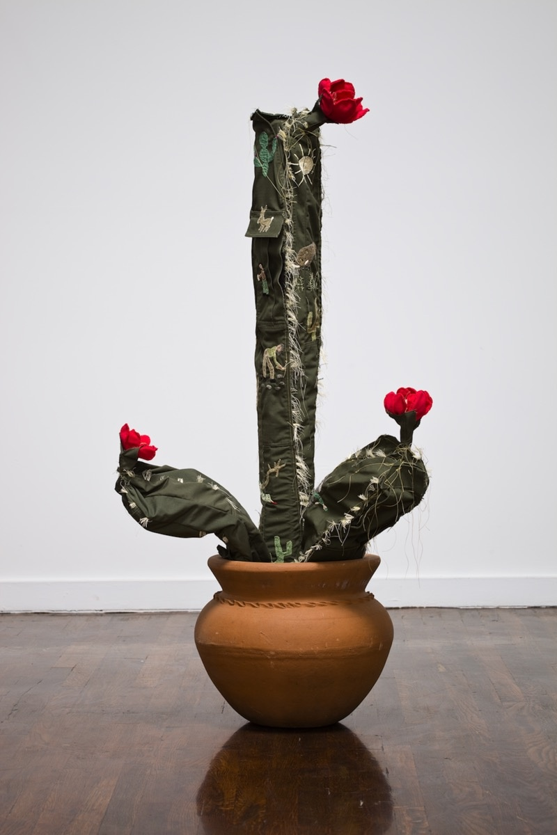 Margarita Cabrera in collaboration with Maria Lopez, Space in Between - Saguaro (Maria Lopez), 2010. Courtesy of the artist and Talley Dunn Gallery, Dallas.