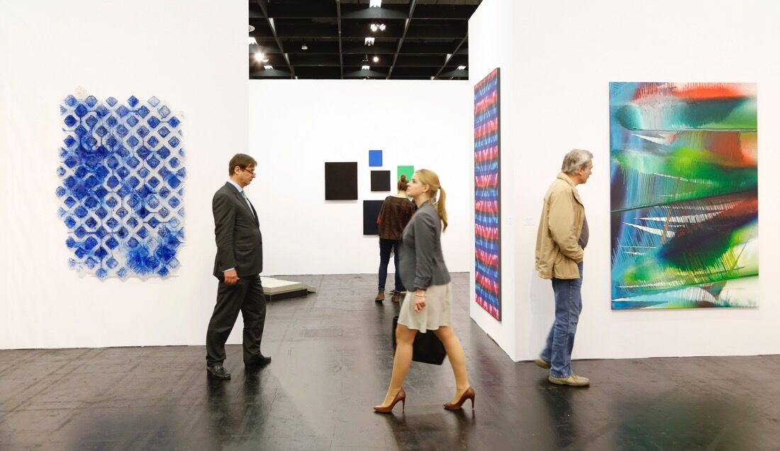 Galerie nächst St. Stephan Rosemarie Schwarzwälder at Art Cologne 2015. Photo: © Koelnmesse.