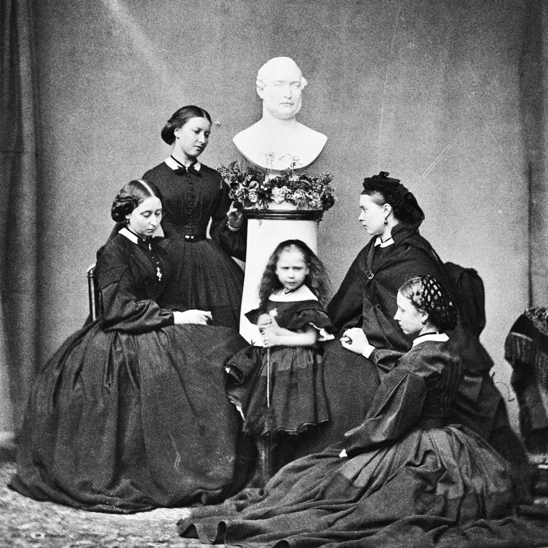 Queen Victoria's five daughters (Alice, Helena, Beatrice, Victoria and Louise.) Photo via Wikimedia Commons.