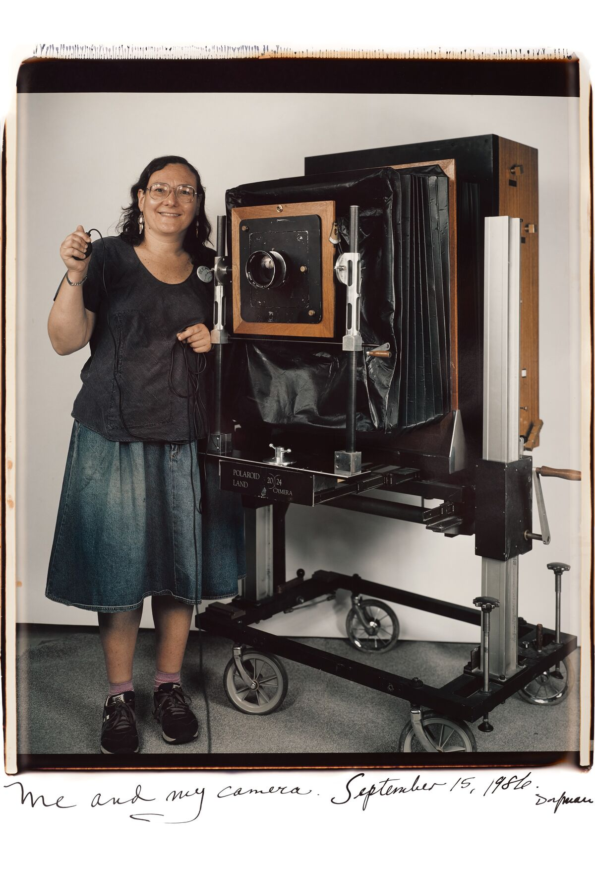 Elsa Dorfman, Me and my camera, 1986. Courtesy of the artist.