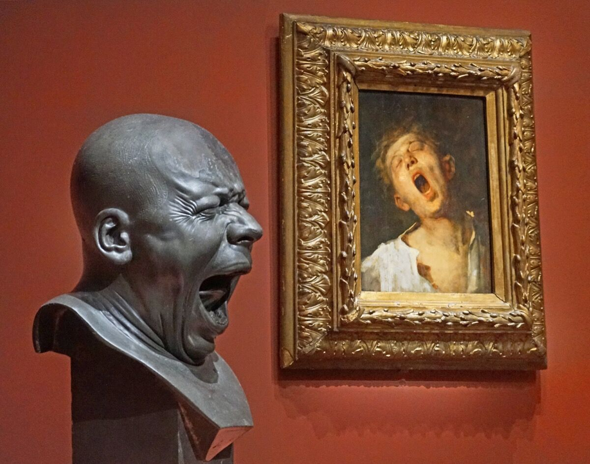 Franz Xaver Messerschmidt, Man Yawning, 1771–81. Photo by Jean-Pierre Dalbéra, via Flickr.