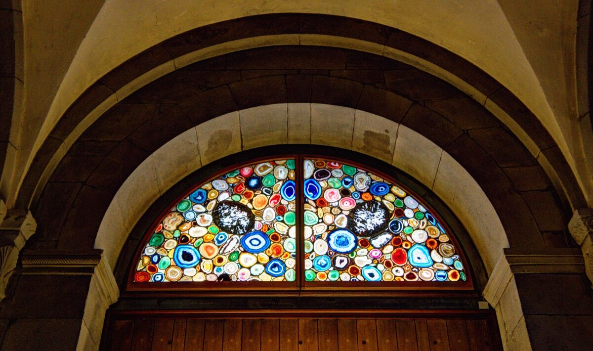 Sigmar Polke Stained Glass Window at Grossmünster, Zurich. Photo by Mark Allan, via Flickr.
