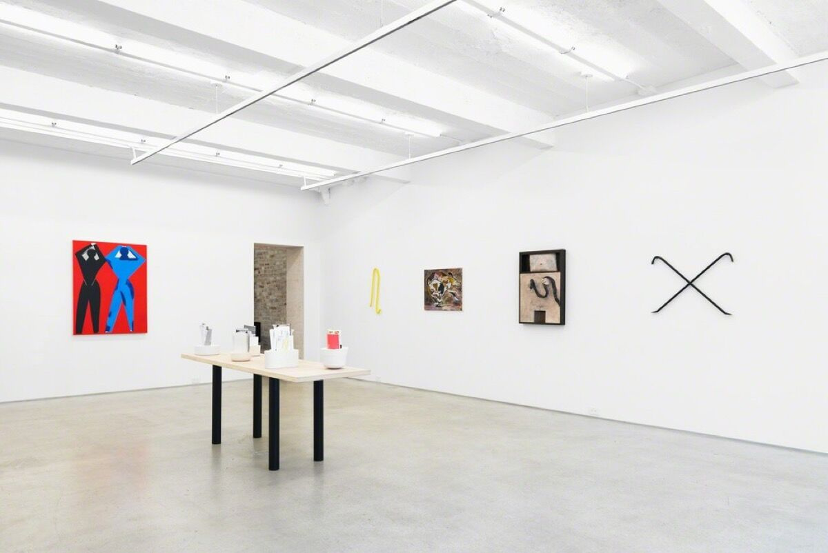 "Installation view of ""Record Lines This Summer"" at Magenta Plains. Courtesy of Magenta Plains."