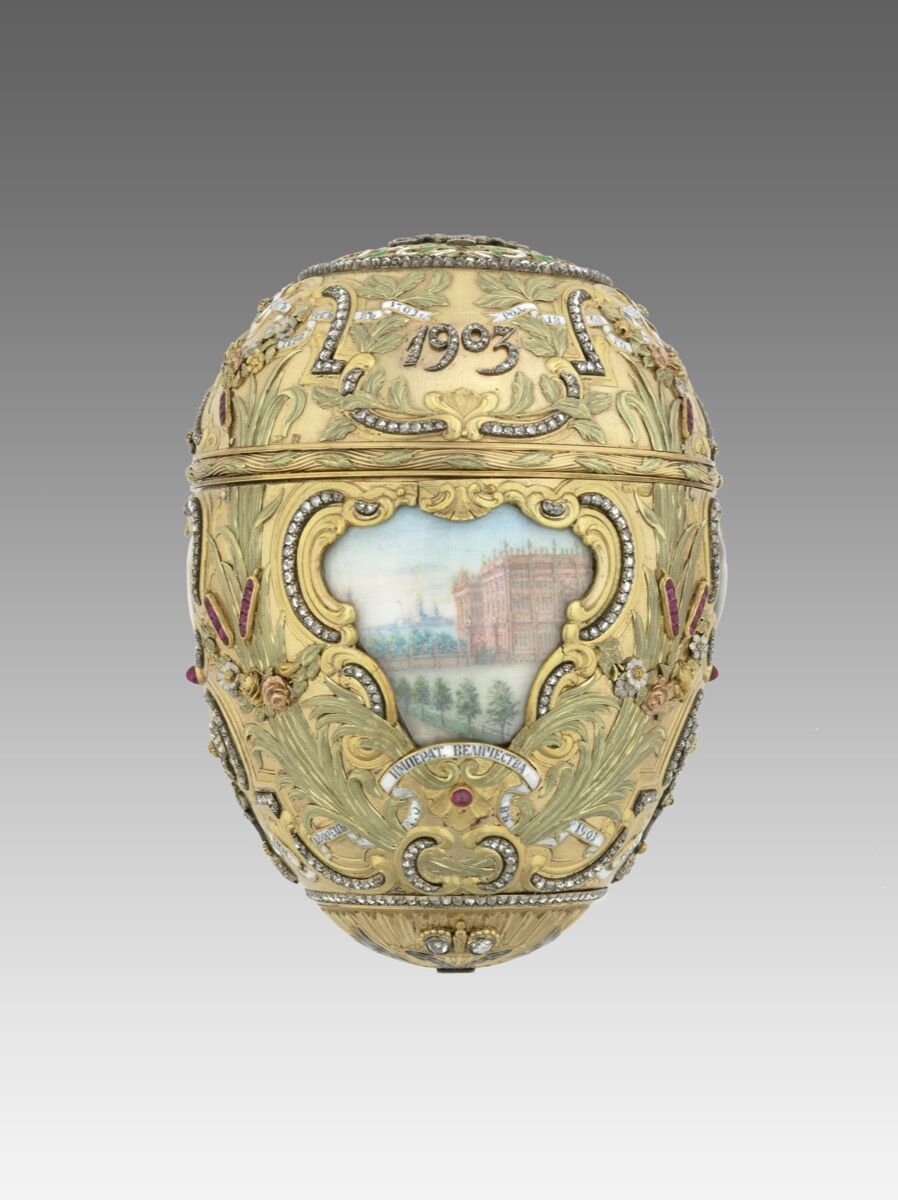 Fabergé firm (Russian). Imperial Peter the Great Easter Egg, 20th century. Photo by Virginia Museum of Fine Arts. Courtesy of Virginia Museum of Fine Arts.