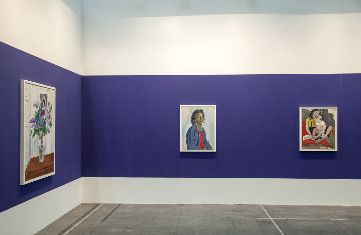 Installation view of Alice Neel at Aurel Scheibler's booth at Artissima, 2015. Photo byMalcolm Varon, courtesy of the Estate of Alice Neel.