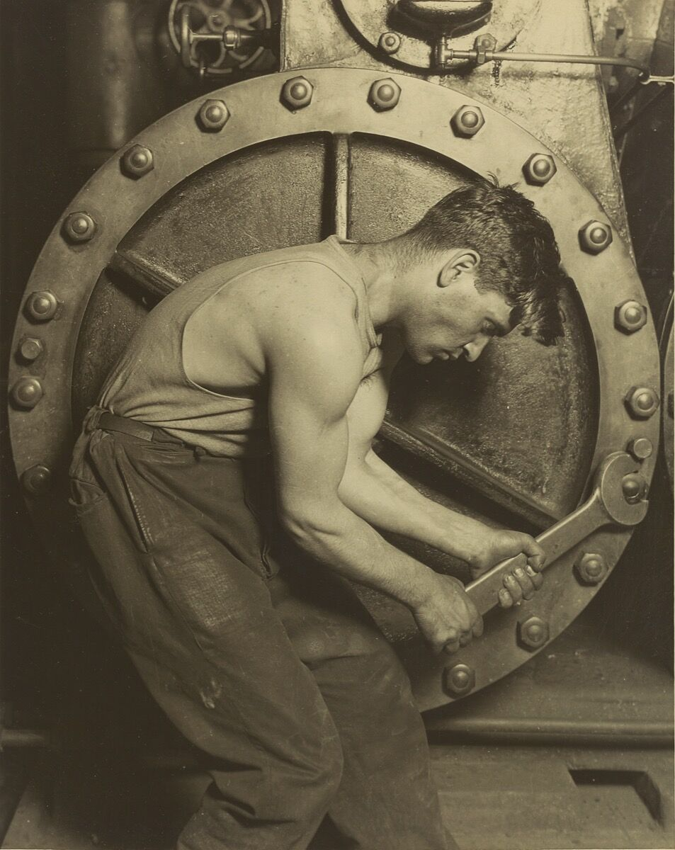Lewis Hine, Mechanic and Steam Pump, 1921. Courtesy of the Getty Museum.