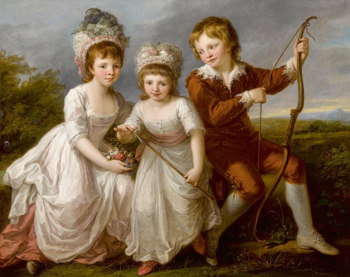 Angelica Kauffmann, Portrait Of Lady Georgiana Spencer, Henrietta Spencer And George Viscount Althorp. Est. $600,000–800,000. Courtesy Sotheby's.