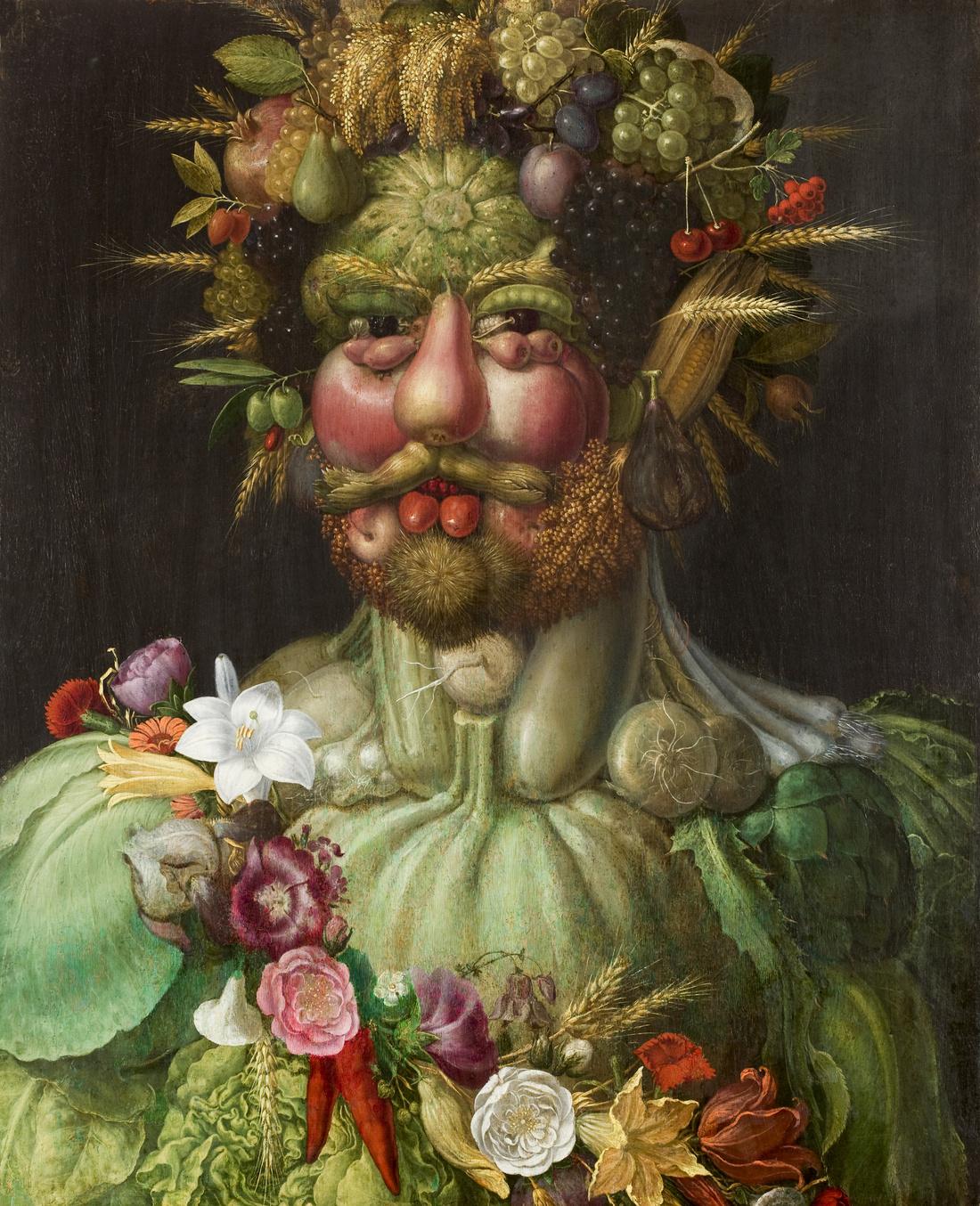 Giuseppe Arcimboldo, Vertumnus, 1589. Image via Wikimedia Commons.