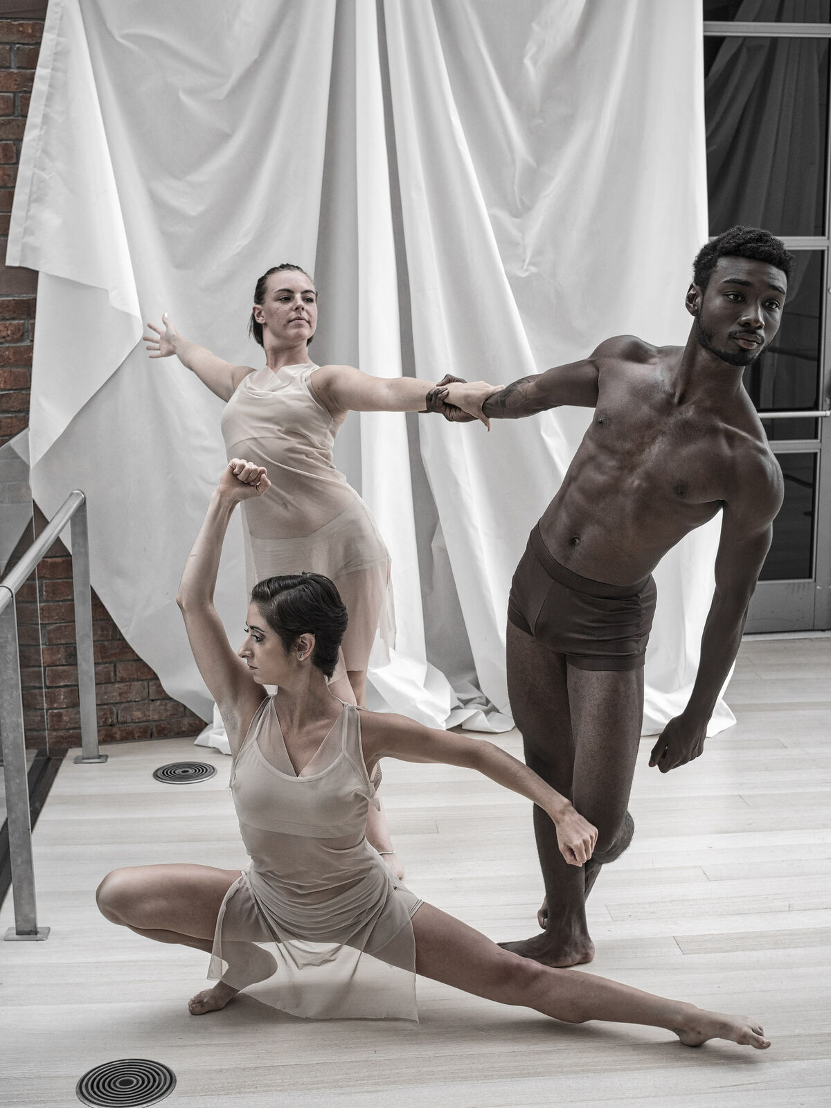 "Bosoma Dance Company perform in ""Rodin: Transforming Sculpture' at the Peabody Essex Museum. Photo by Swong95765, via Flickr."