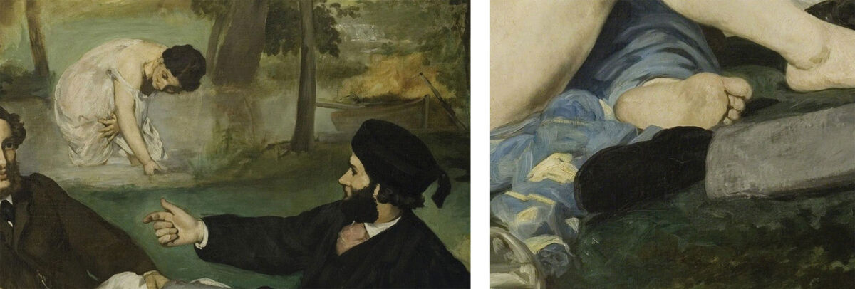 Details of Édouard Manet's Le Déjeuner sur l'Herbe (Luncheon on the Grass).