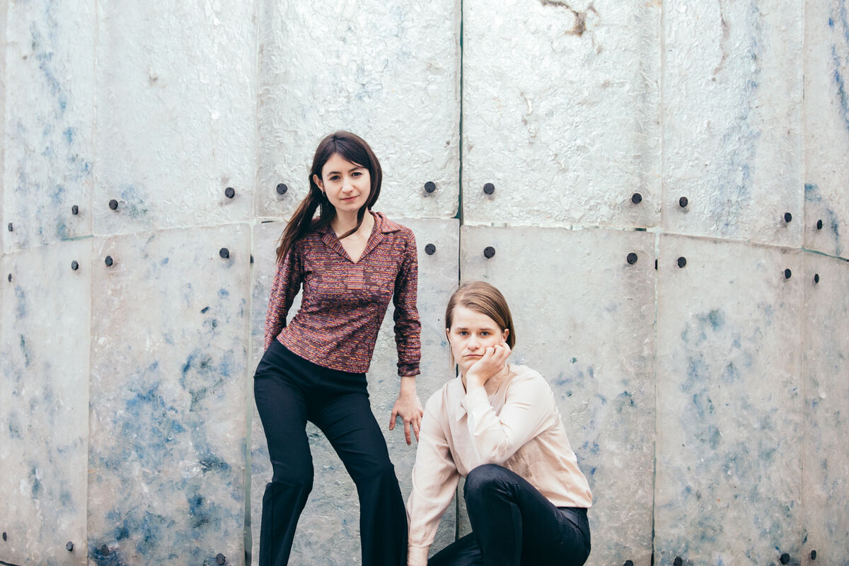 Portrait of Keira Fox and Ellen Freed of New Noveta in London by Kate Berry for Artsy.