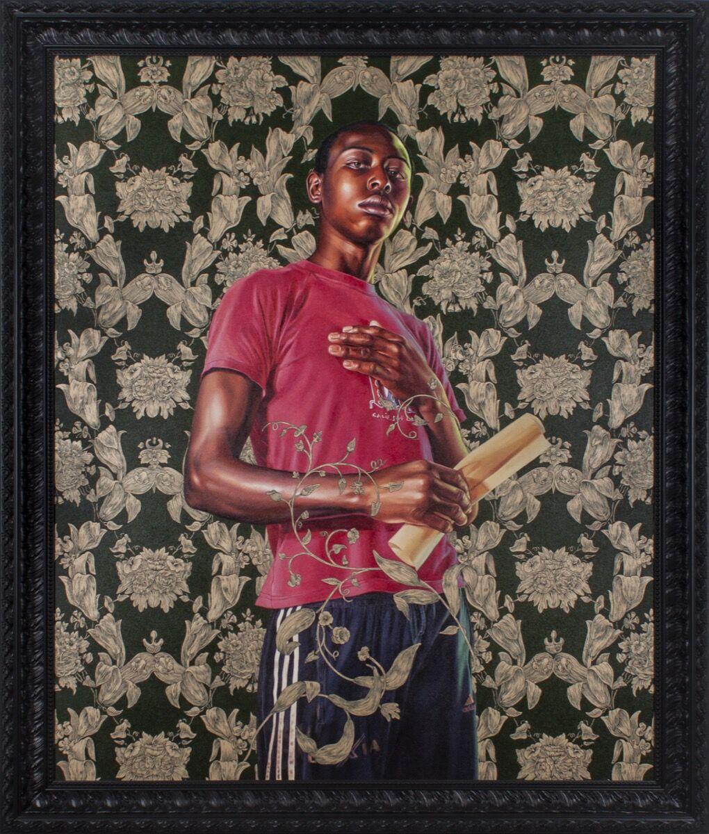 Kehinde Wiley, Portrait of Dacdjo Ndie Joseph, 2015. Courtesy of Berggruen Gallery, San Francisco.