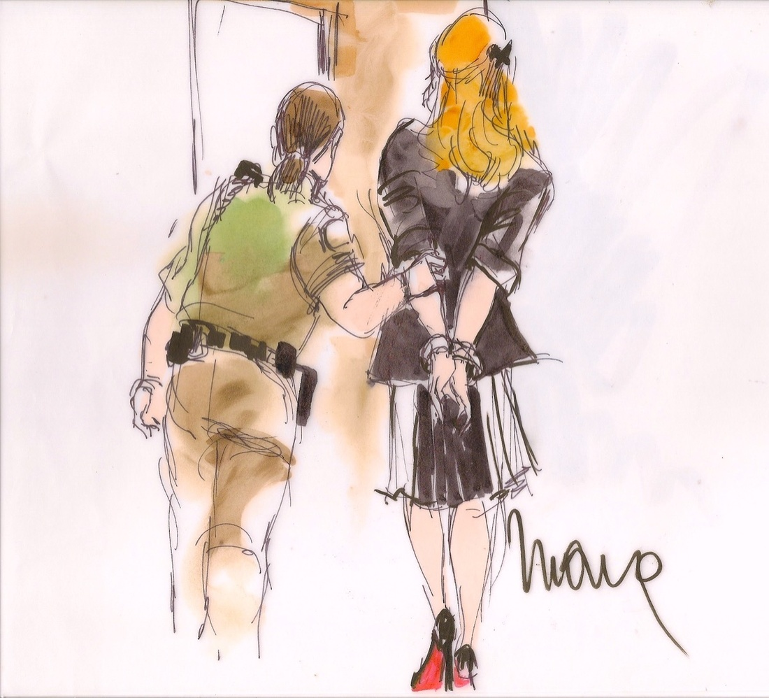 Illustration of Lindsay Lohan by Mona Shafer Edwards.