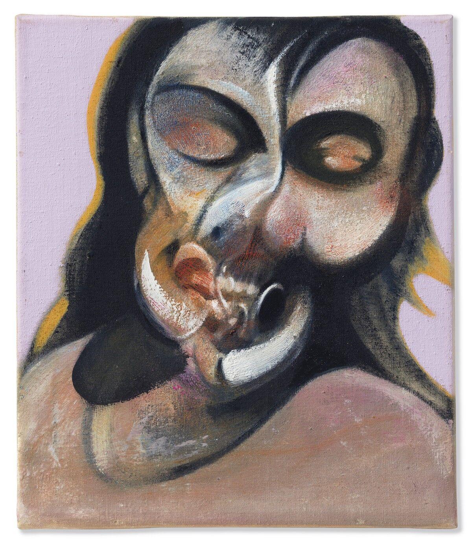 Francis Bacon, Study of Henrietta Moraes Laughing , 1969. Est. $14–18 million. Image courtesy Christie's.