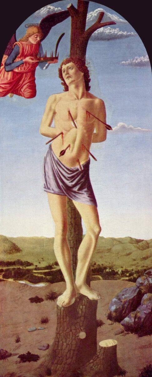 Francesco Botticini, Saint Sebastian, ca. 1460.