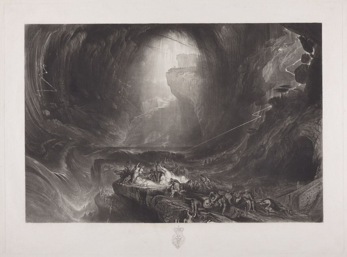 John Martin,  The Deluge,   1828. Courtesy of the Yale Center for British Art.
