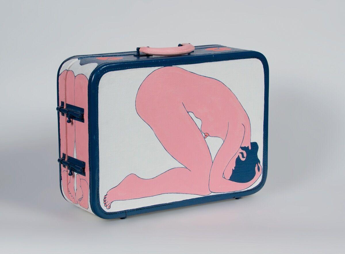 John Wesley, Suitcase, 1964–65. Image courtesy of Waddington Custot.
